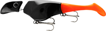 Headbanger Shad 22cm - Black Orange - Neutralny